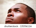 a young man looks up to the sky ... | Shutterstock . vector #15356116
