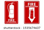 red fire extinguisher label set. | Shutterstock .eps vector #1535674637