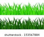 seamless green grass on a white ... | Shutterstock . vector #153567884