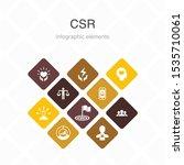csr infographic 10 option color ...