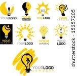 icons of  light bulb   Shutterstock .eps vector #15357205