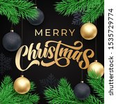 merry christmas greeting card... | Shutterstock .eps vector #1535729774