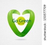 vector eco symbol. abstract spa ... | Shutterstock .eps vector #153577709