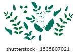 leaf vector set of flat... | Shutterstock .eps vector #1535807021