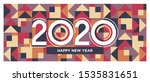Lettering Of 2020 Number. Happy ...