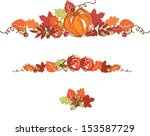 thanksgiving autumn background... | Shutterstock .eps vector #153587729