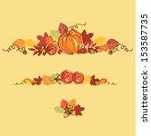 thanksgiving autumn background...   Shutterstock .eps vector #153587735