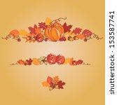 thanksgiving autumn background...   Shutterstock .eps vector #153587741