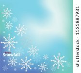 snowfall frozen mesh background.... | Shutterstock .eps vector #1535887931