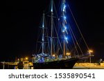 Sailing ship in the port of Nafplion. Greece