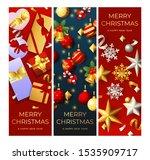 happy new year red  grey banner ... | Shutterstock .eps vector #1535909717