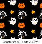 Halloween's Cats And Pumpkin ...