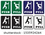 push pull door signs collection | Shutterstock .eps vector #1535924264