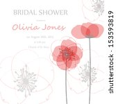 wedding card or invitation with ...   Shutterstock .eps vector #153593819