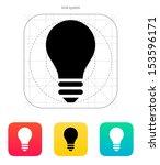 light bulb icon on white...