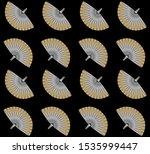 exotic fan palm leaves...   Shutterstock .eps vector #1535999447