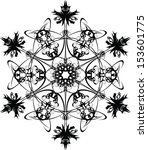 vector floral design element | Shutterstock .eps vector #153601775