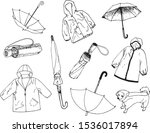 set of items for rainy day ... | Shutterstock .eps vector #1536017894