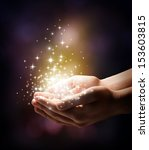 stardust and magic in your hands | Shutterstock . vector #153603815
