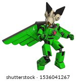 3d Render  Mech Containing...