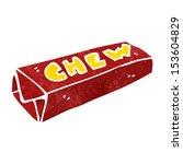 retro cartoon chewing gum   Shutterstock .eps vector #153604829