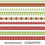 christmas borders | Shutterstock .eps vector #153605954