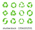 recycle icon vector. recycle... | Shutterstock .eps vector #1536101531