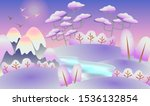 winter panorama with mountains... | Shutterstock .eps vector #1536132854
