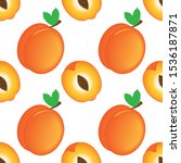 seamless apricot background ... | Shutterstock .eps vector #1536187871