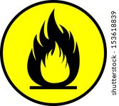 flammability sign n the circle