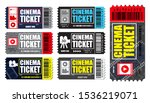 set of cinema tickets in... | Shutterstock .eps vector #1536219071