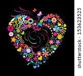 colorful heart  eps 10 vector... | Shutterstock . vector #153623525