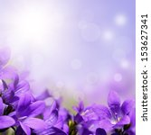 Flowers Background With Purple...