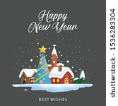 greeting christmas and new year ... | Shutterstock .eps vector #1536283304