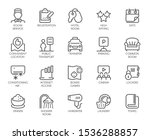 set of 20 line icons of room... | Shutterstock .eps vector #1536288857