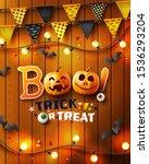 halloween poster with halloween ... | Shutterstock .eps vector #1536293204