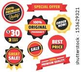 set of vector badges stickers... | Shutterstock .eps vector #153629321
