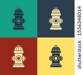 Color Fire Hydrant Icon...