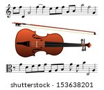 violin with music notes eps8 | Shutterstock .eps vector #153638201