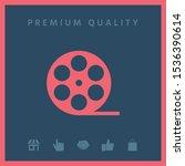 reel film symbol icon. graphic...   Shutterstock .eps vector #1536390614