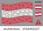 waving austria flag. vector...
