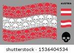 waving austria state flag.... | Shutterstock .eps vector #1536404534