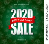 new year 2020 sale badge  label ... | Shutterstock .eps vector #1536422534