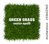 Rectangle Green Grass Banner....