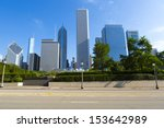 chicago road side view | Shutterstock . vector #153642989