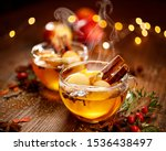 Mulled Cider With Slice Apples  ...