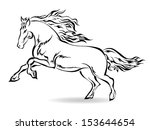 galloping horse | Shutterstock .eps vector #153644654