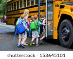 a group of young children... | Shutterstock . vector #153645101