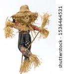 Scarecrow Doll On White...
