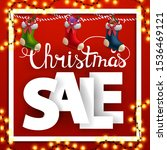 christmas sale  square discount ... | Shutterstock .eps vector #1536469121